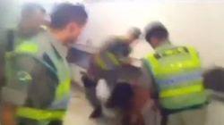 ASSISTA: Policiais agridem torcedor durante partida no Serra