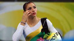 Ex-ginasta Lais Souza continua tratamento de lesão em