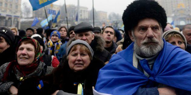 KIEV, UKRAINE - FEBRUARY 9: The anti-government protests keep going on in Kiev, Ukraine, February 9,...