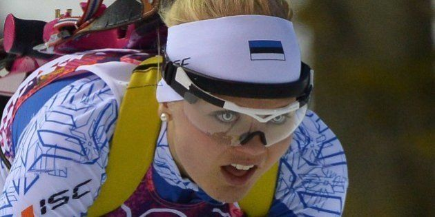 Estonia's Grete Gaim competes during the Women's Biathlon 7,5 km Sprint event of the Sochi Winter Olympics...