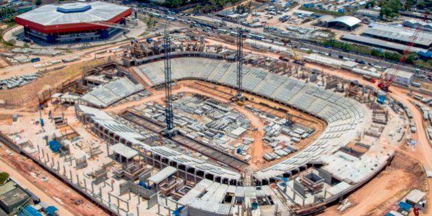 Manaus, AM - Obras da Arena Amazônia. (Foto: Divulgação/Portal da