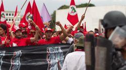 MST quis entregar uma carta à Dilma em Brasília,