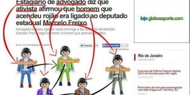Matéria do G1 sobre envolvimento de Marcelo Freixo com manifestante vira meme nas redes