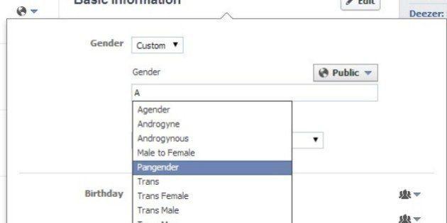 Seu sexo é feminino ou masculino? No FB, não precisa ser nenhum