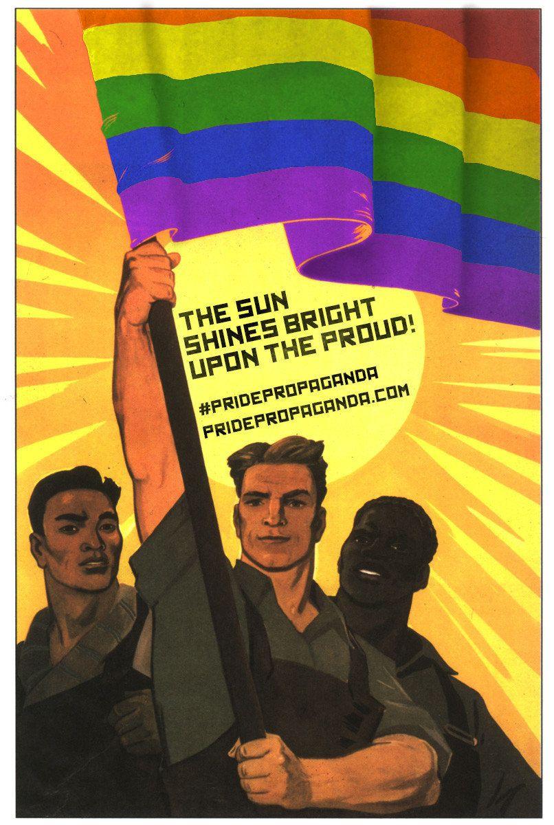 Antigos cartazes de propaganda soviética se transformam em símbolos