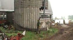 INCRÍVEL: homem destrói silo usando