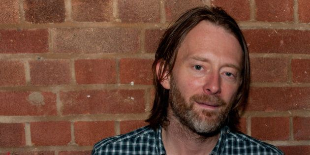 LONDON, ENGLAND - OCTOBER 11: Thom Yorke of Radiohead poses for a photoshoot backstage at Boiler room...