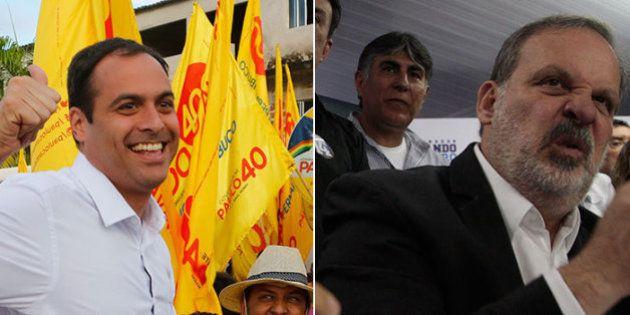 Candidato de Eduardo Campos, Paulo Câmara abre distância sobre favorito Armando Monteiro, aponta