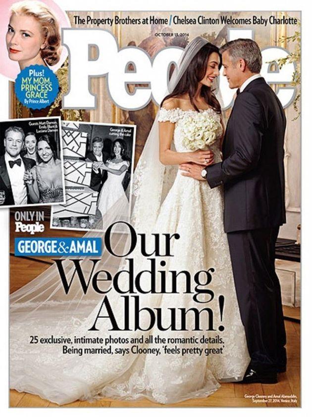 Primeiras fotos do casamento de Amal Alamuddin e George Clooney são divulgadas pela revista People