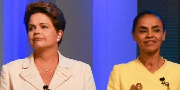 Brazilian President and candidate of Brazilian presidential election for the Workers Party (PT) Dilma...
