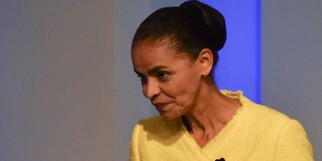 Marina Silva, a Brazilian presidential candidate for the Brazilian Socialist Party (PSB), attends their...