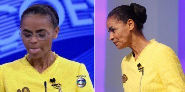Correndo atrás do prejuízo, Marina Silva sobe o tom no #DebateNaGlobo contra Dilma Rousseff e Aécio