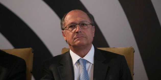 SAO PAULO, BRAZIL - MAY 22: Sao Paulo Governor Geraldo Alckmin during the announcement of measures of...