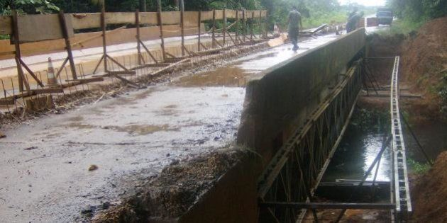 Ponte sobre o igarapé Preto na rodovia BR 319 no Amazonas. Foto: Divulgação DNIT/Pugás (janeiro