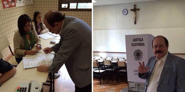 Levy Fidelix muda horário e vota pela manhã em