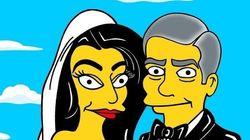 FOTOS: a versão 'Os Simpsons' do casamento de Amal Alamuddin e George