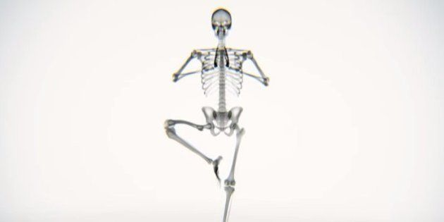 O que acontece com o esqueleto quando fazemos ioga?