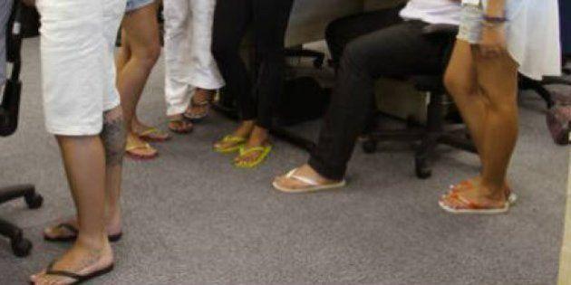 Groupon libera chinelos no escritório por causa do