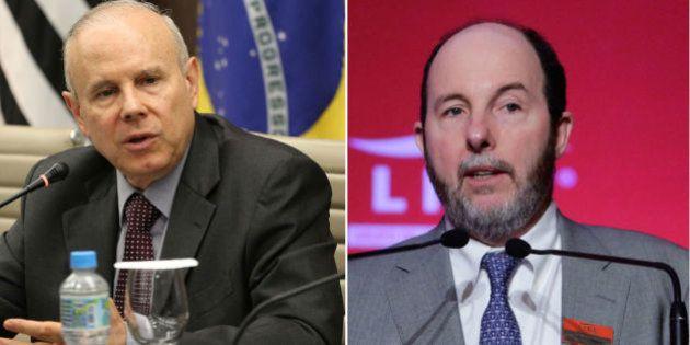 Chefes do programa econômico de Dilma e Aécio, Guido Mantega e Armínio Fraga duelam em programa de Miriam