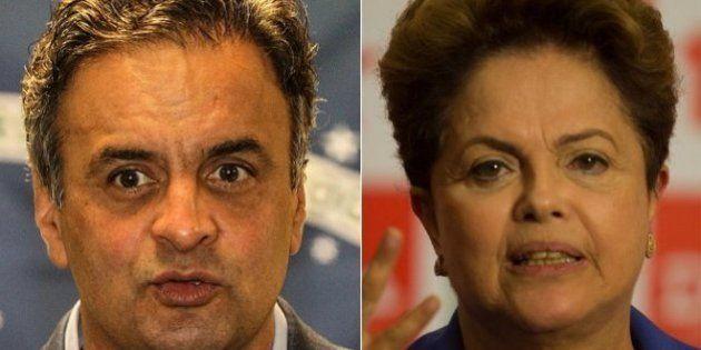 Aécio Neves e Dilma Rousseff estão empatados tecnicamente na primeira pesquisa do segundo turno de Ibope...