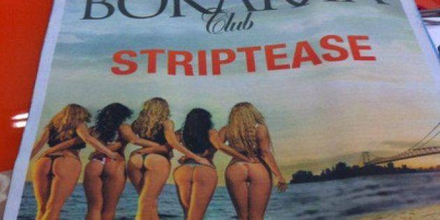 Catarinenses se revoltam com anúncio de clube de striptease no maior jornal do