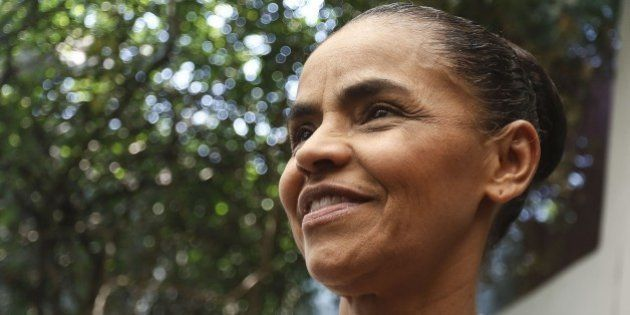 Brazilian Socialist Party's (PSB) former presidential candidate, Marina Silva announces in Sao Paulo...