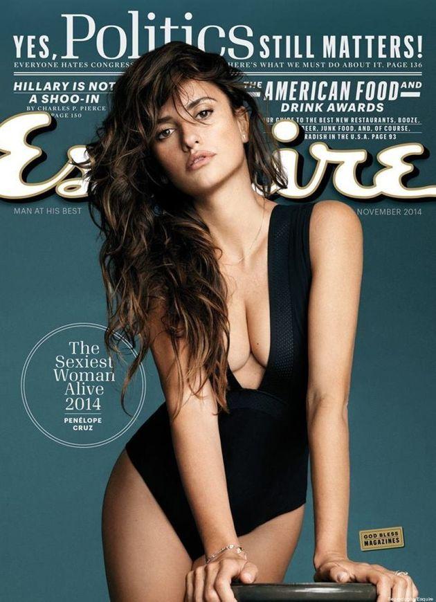 Penélope Cruz é eleita a mulher mais sexy do mundo pela revista americana Esquire