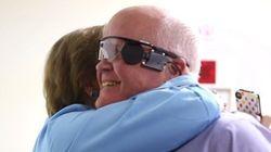 Ele conseguiu enxergar a esposa após 33 anos. Veja como foi sua