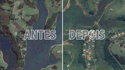 Antes e depois do Cantareira: imagens de satélite mostram situação