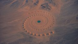 O que são estas estranhas formações no deserto do