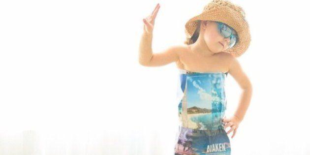 Mini fashionista de 4 anos cria vestidos incríveis com