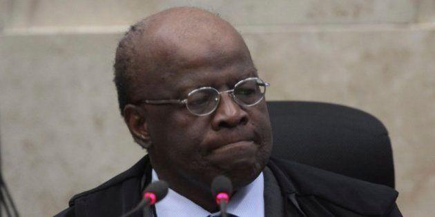 BRASILIA, BRAZIL - SEPTEMBER 12: (BRAZIL OUT) President of the Supreme Court Joaquim Barbosa chairs a...