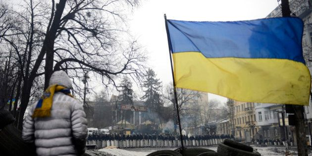 KIEV, UKRAINE - FEBRUARY 8: Awaiting of anti-government protesters keep going on in the Ukrainian capital...