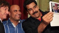 Maduro adere à selfie e posa ao lado de Sean