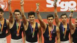 FOTO: É do Brasil! Time de ginástica artística masculina é prata, mas não decide que horas são