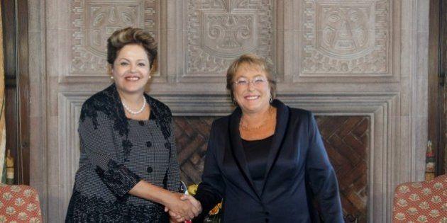 Michelle Bachelet e Dilma Rousseff, tanto em