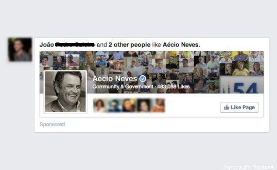 Faltando 7 meses para a eleição, Aécio Neves começa campanha de anúncios para sua página oficial no
