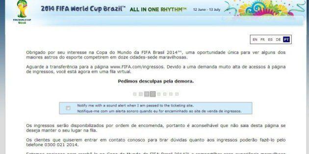 Copa do Mundo: venda de segundo lote de ingressos tem demorada fila