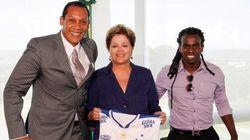 Copa do Mundo: Dilma reafirma combate ao racismo em conversa com Tinga e Márcio
