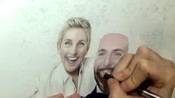 Assista: com lápis de cor, artista refaz a selfie do