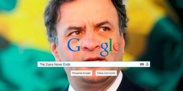 Aécio tenta tirar associação com drogas do Google e acaba trolado por