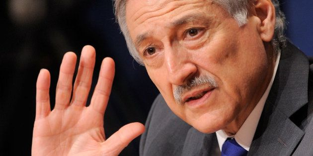NEW YORK - MARCH 05: Permanent UN Representative to Chile Heraldo Munoz speaks at a UN press conference...