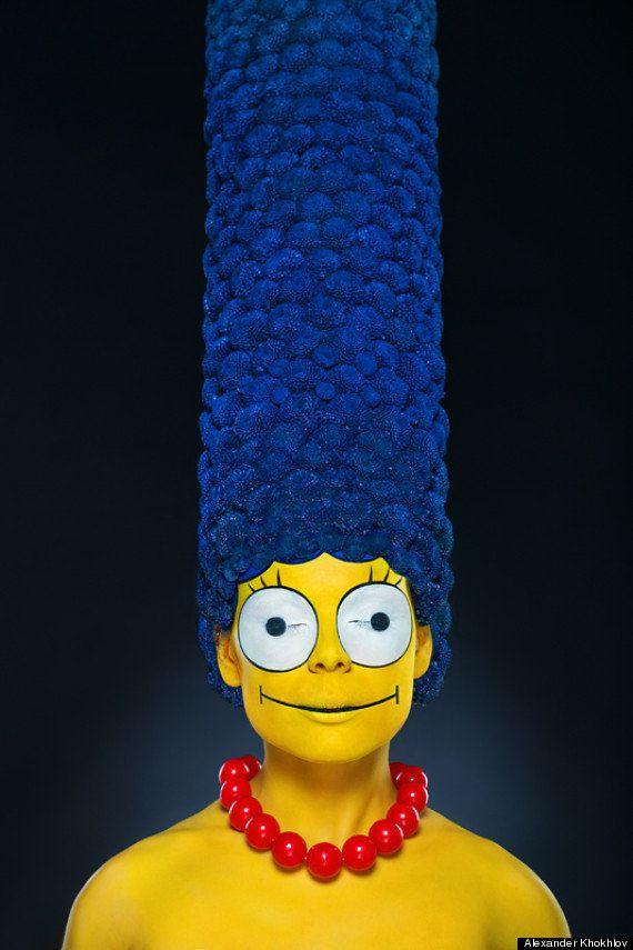Fotógrafo cria Marge Simpson da vida real