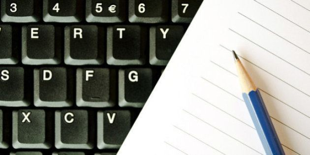Você ainda escreve com letra de mão?  Ou só