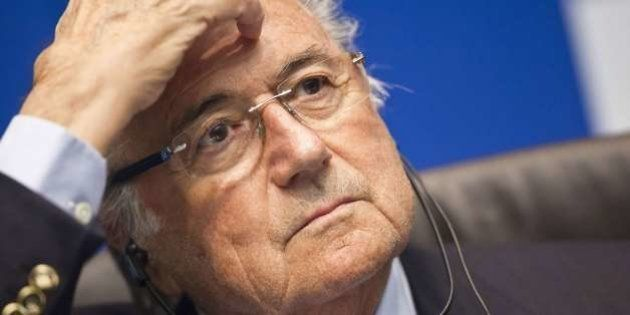 FIFA president Sepp Blatter attends a press conference following an executive meeting of the football's...