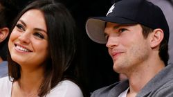 Mila Kunis e Ashton Kutcher esperam o primeiro
