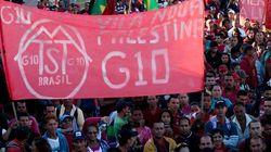 Trabalhadores sem-teto protestam contra Haddad e bloqueiam trânsito em