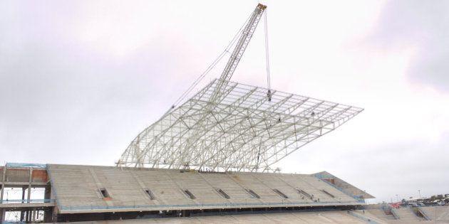 São Paulo, Dezembro de 2012 - Obras da Arena do Itaquera. (Foto: Portal da