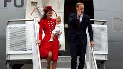 Bebê real estreia na vida pública ao lado dos pais William e