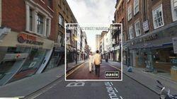 As capas dos seus discos favoritos no Google Street